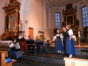 Roggehuse-Musig und Jodler-Terzett Drü-Klang am 11.11.2012